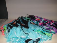Approx 22 ladies tankinis in various colours and designs to inc. pink, green and blue, etc various