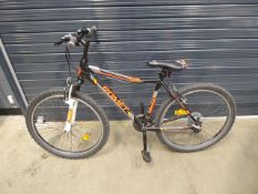 Grey and orange rambler romet child's bike