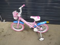 Small pink Peppa Pig girls bike