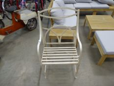 Beige metal garden chair