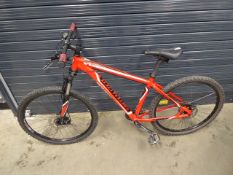 Red and white specialized gent's mountain bike