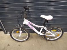White and pink romet jolene girl's bike