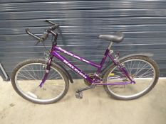Purple Raleigh ladies mountain bike