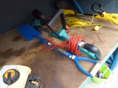 Bosch electric strimmer and a spade