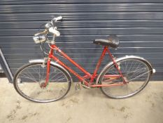 Red ladies vintage bike