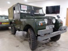 1957 Landrover Series 1 two litre petrol, ex-military vehicle, first registered for the road in