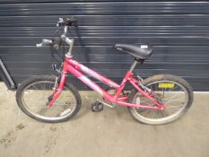 Pink girl's Raleigh bike