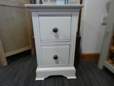 Small White 2 Drawer Bedside (42)