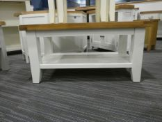 Suffolk White Painted Oak Small Coffee Table (10)