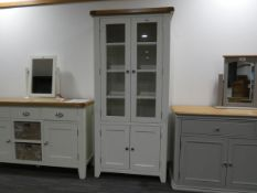 Hampshire White Painted Oak Display Cabinet (31)