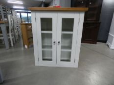 Suffolk White Painted Oak Small Hutch (29)