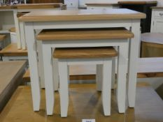 Gloucester White Painted Oak Nest of 3 Tables (17)