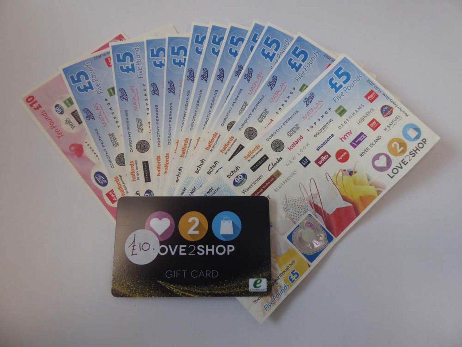Love 2 Shop (x4) - Total face value £75