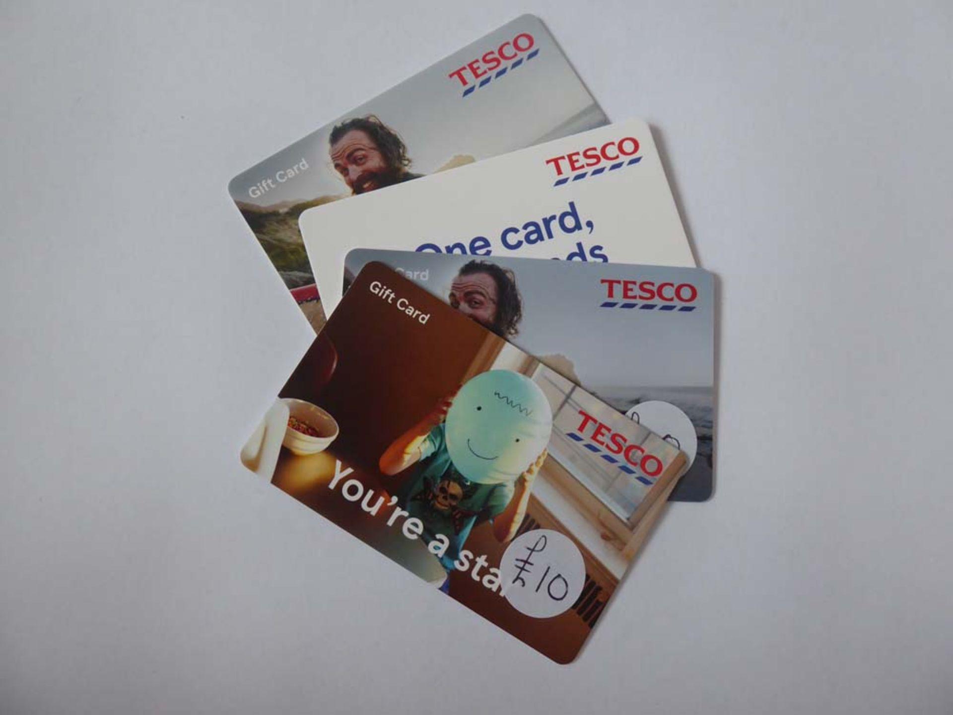 Tesco (x4) - Total face value £105