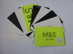 Marks & Spencer (x10) - Total face value £165
