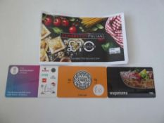 Various : Food & Dining (x4) - Total face value £65