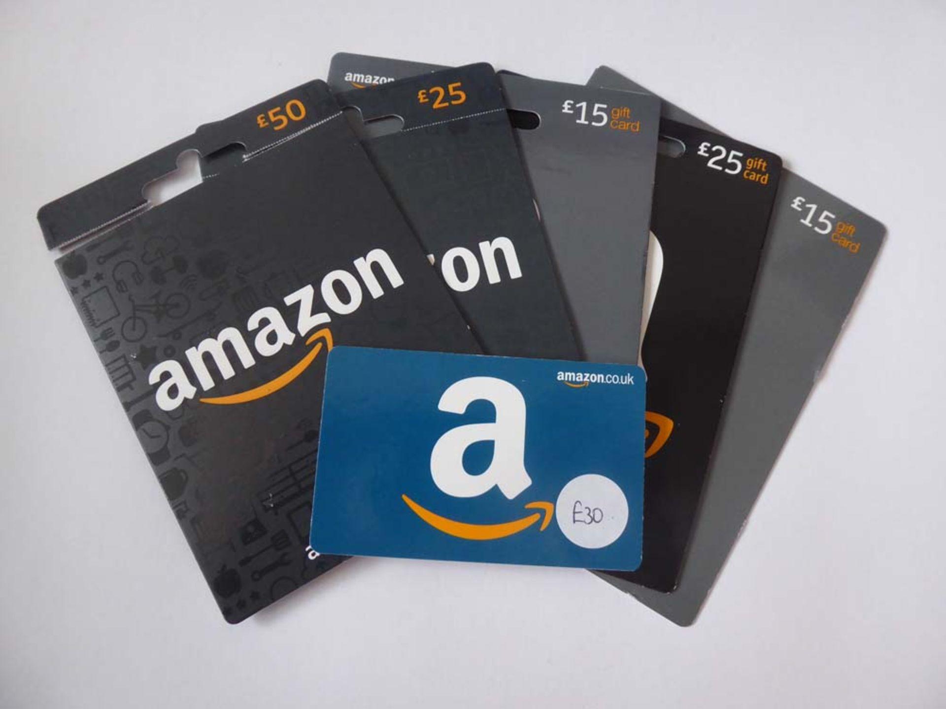 Amazon (x6) - Total face value £160