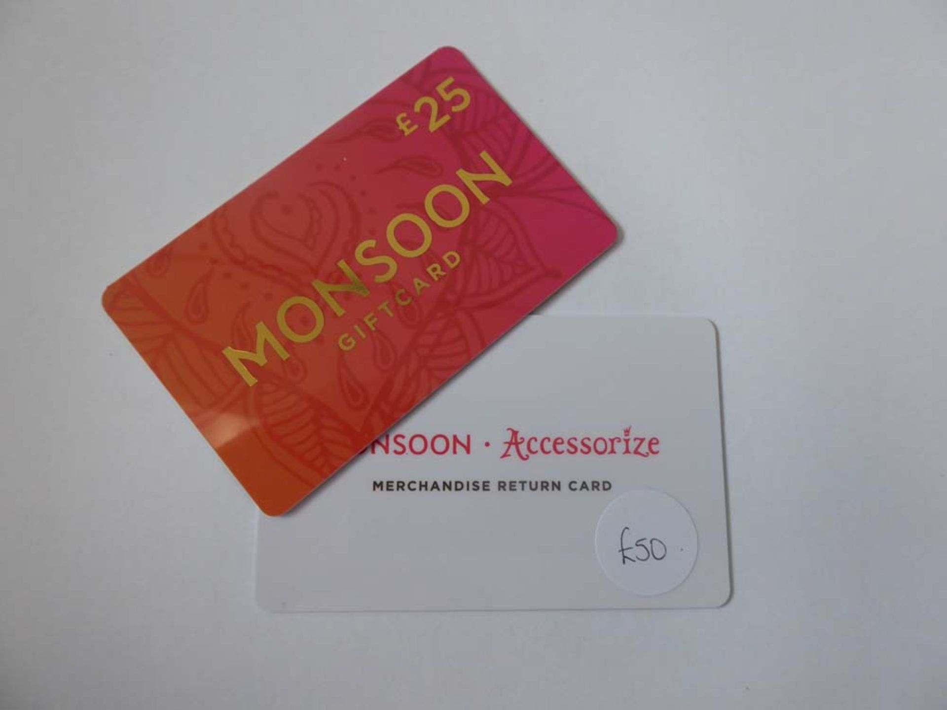 Monsoon (x2) - Total face value £75