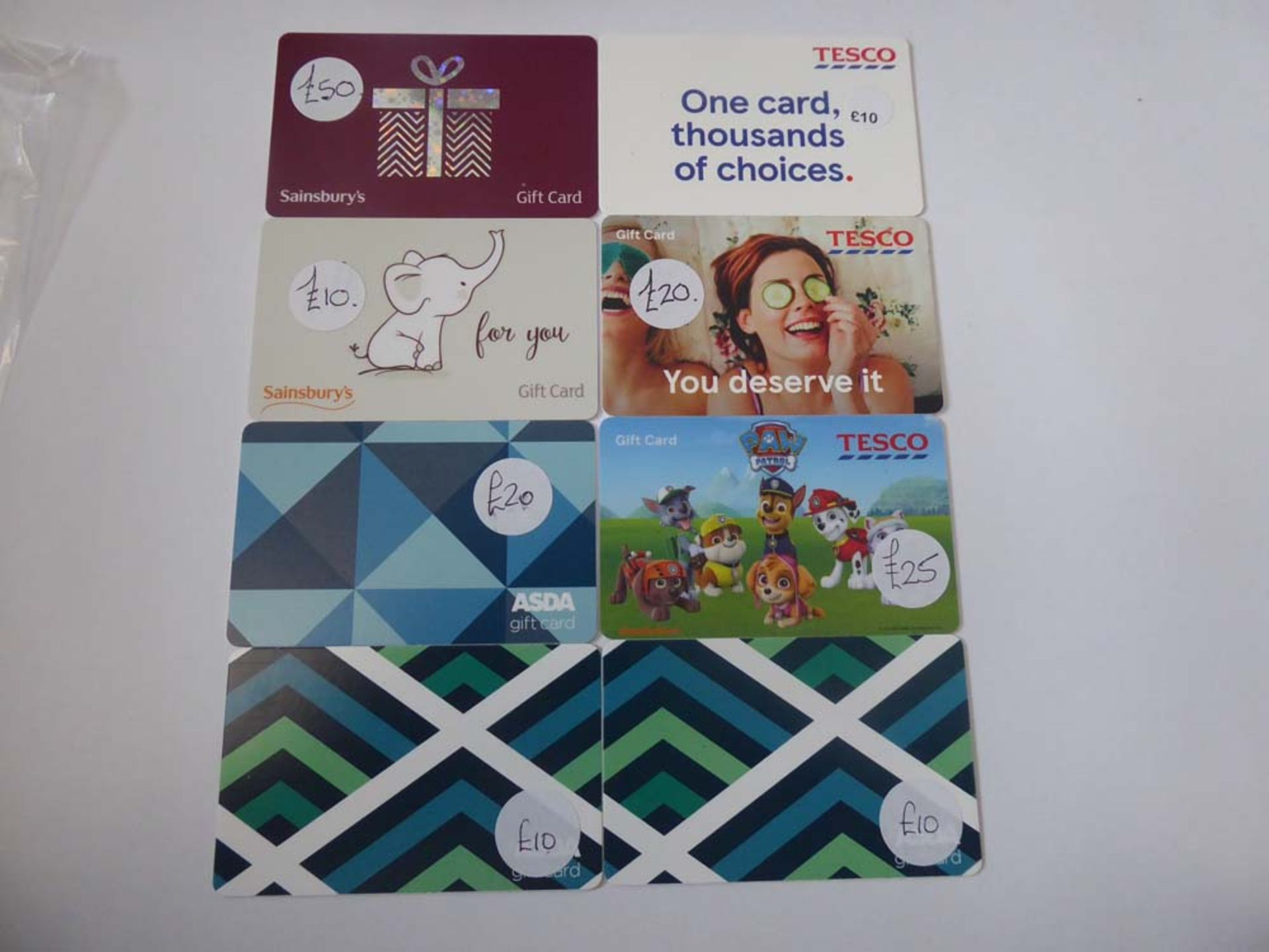 Various : Supermarket (x8) - Total face value £155