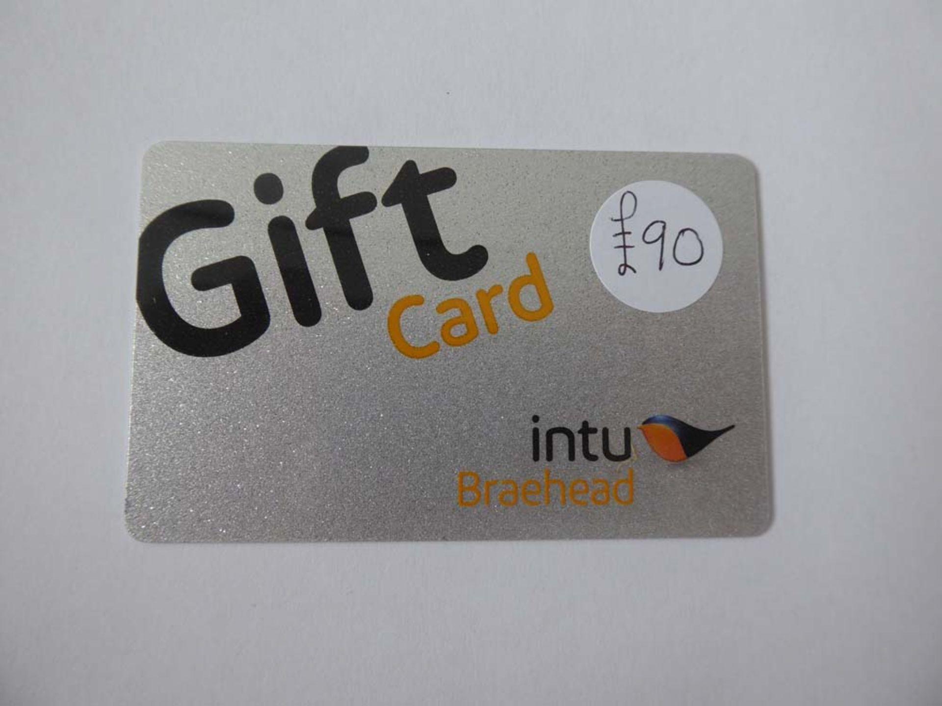Intu (x1) - Total face value £90