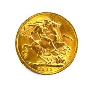 A sovereign dated 1913