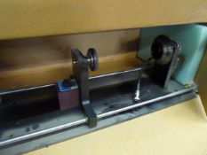 Small lathe bed with electronic motor and magnetic adjustment base, 56cm length bed, possibly for