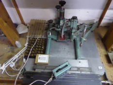 David Doweling limited pantograph machine with assorted selection of tooling and letters