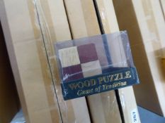 Approximately 80 wooden toy puzzles