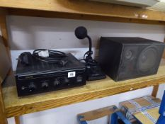 Eagle public address amplifier with eagle microphone and speaker
