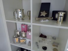 A range of sample engraving gift and blank stock to include; lighters, photo frames, plaques, key