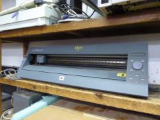 Roland CAM-1 model CX24 vinyl cutter with associated PC, monitor, printer, scanner, keyboard and