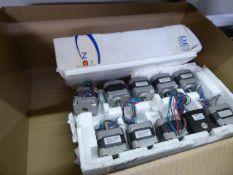 Box of small Densitron motors a box of KHK small gears