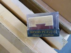 Approximately 70 wooden toy puzzles