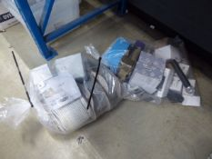 4348 2 bags containing cable, switches, sockets, microphones etc