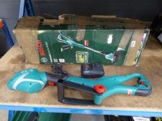 Bosch battery powered strimmer with charger (no battery)