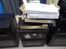 4136 - 2 small comms cabinets with a quantity of accessories