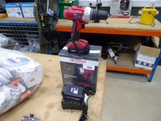 4288 Duratool 18v cordless boxed drill with 2 batteries and charger