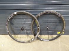 2 Reynolds carbon fibre bike wheels