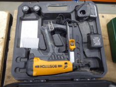 Bostitch battery powered nailer with 2 batteries and charger