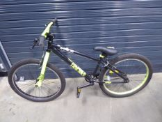 X Rated black and green gents mountain bike