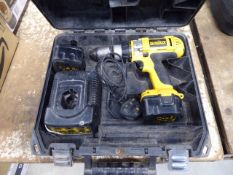 Dewalt 12v battery drill with 2 batteries and charger