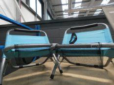 2 small fold up fishing/beach chairs