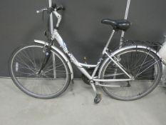 Raleigh silver ladies bike