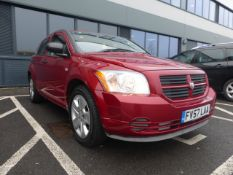 FV57 LAA (2008) Dodge Caliber SE, Petrol in red MOT: expired 2/11/2020