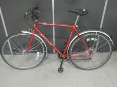 Apollo red gents bike
