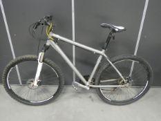 Silver gents mountain bike