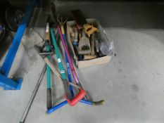 Quarter of an underbay of garden and DIY tools