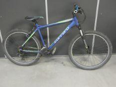 Green and blue Carerra gents mountain bike
