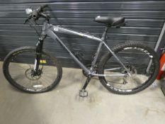 Mongoose dark grey mountain bike