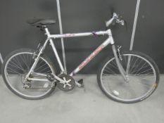Claude Butler silver and purple gents bike